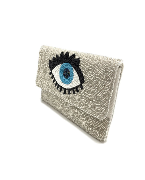 Beaded Evil Eye Clutch - SLAYVE to style
