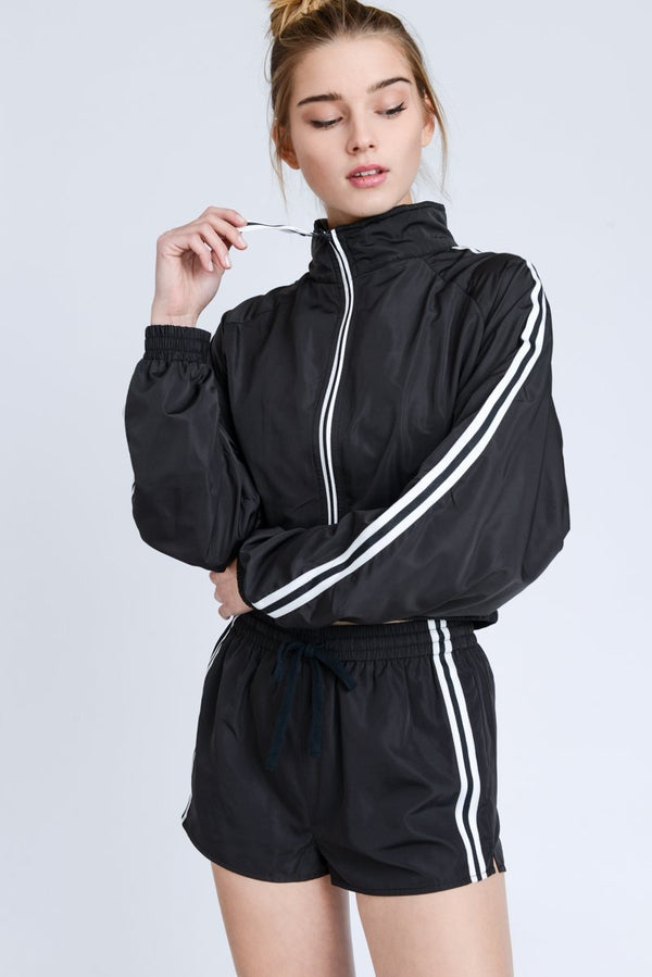 Black Windbreaker Jacket - SLAYVE to style