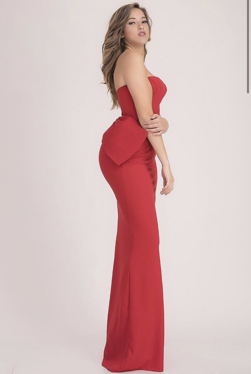 Bow Back Gown - SLAYVE to style (4465960091695)