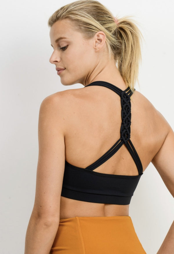 Braided Back Sports Bra - SLAYVE to style (4459427233839)