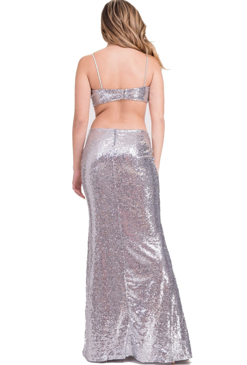 Ice Princess Gown - Silver - SLAYVE to style (1568193970199)