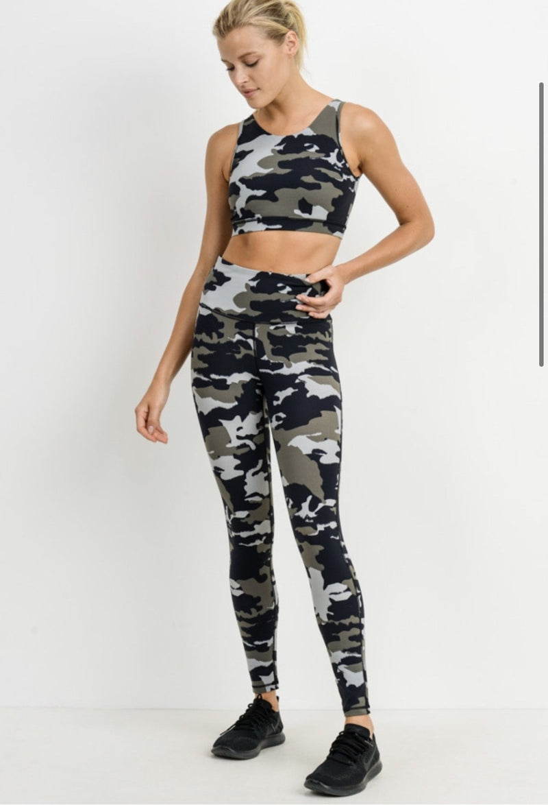 Jungle Camo Leggings - SLAYVE to style (4489945579567)