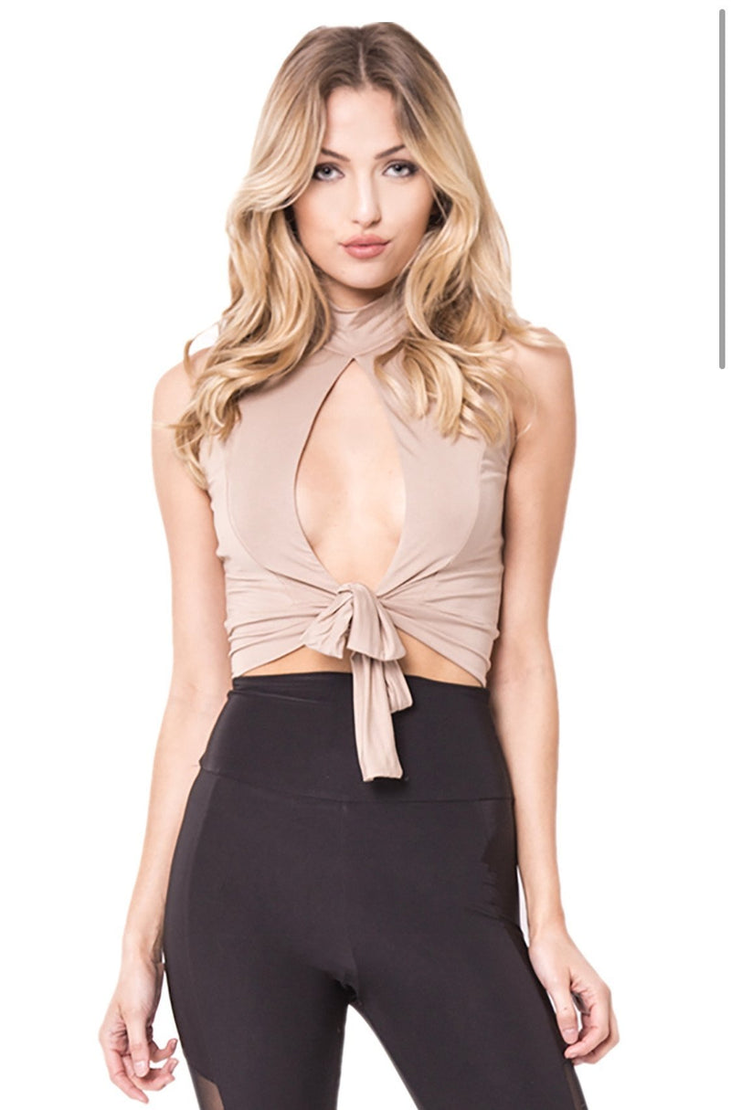 Peep Show Top - Taupe - SLAYVE to style (4498572836911)