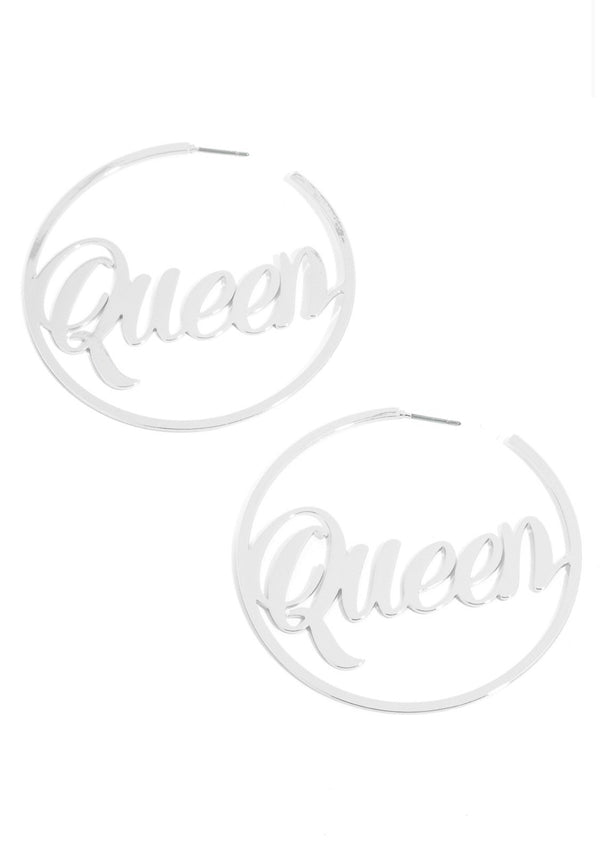 Queen Hoop Earrings - SLAYVE to style (3951623667735)