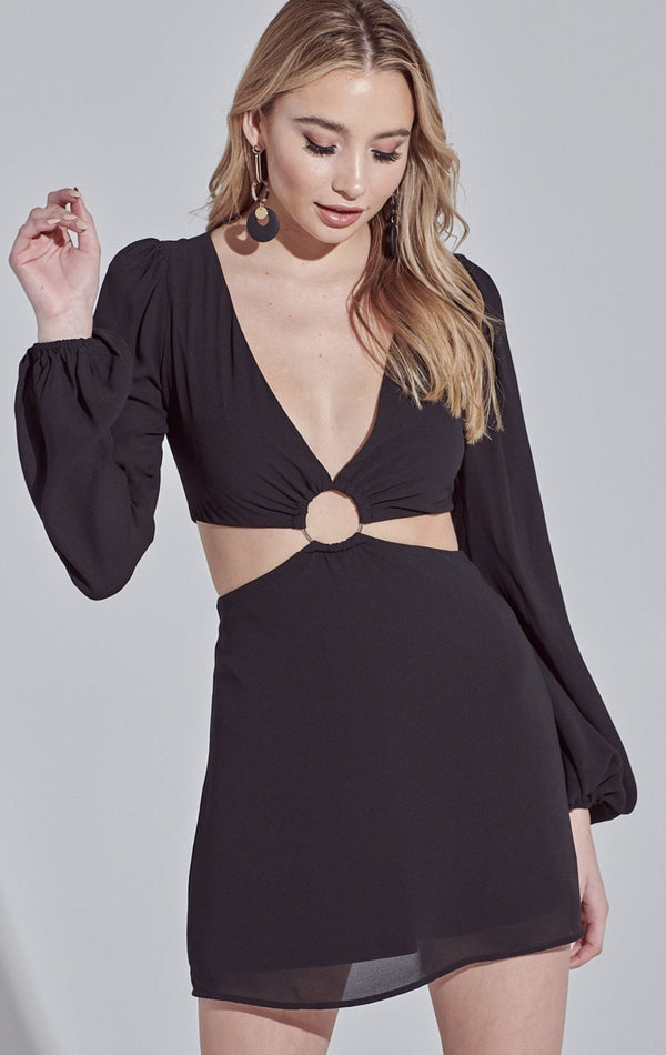 Ring Cut Out Dress - SLAYVE to style (4474890321967)