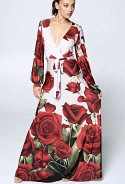Rose Rage Maxi Dress - SLAYVE to style (4422960676911)