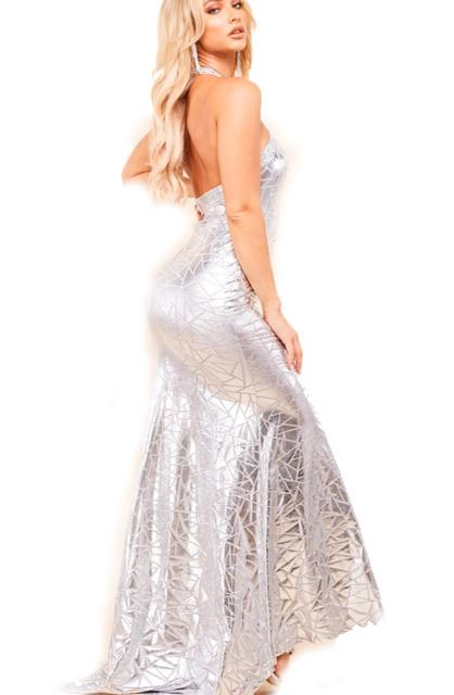 Silver Slither Gown - SLAYVE to style (4445562175535)