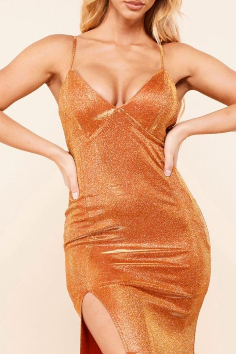 Sparkling Copper Gown - SLAYVE to style (4420334452783)