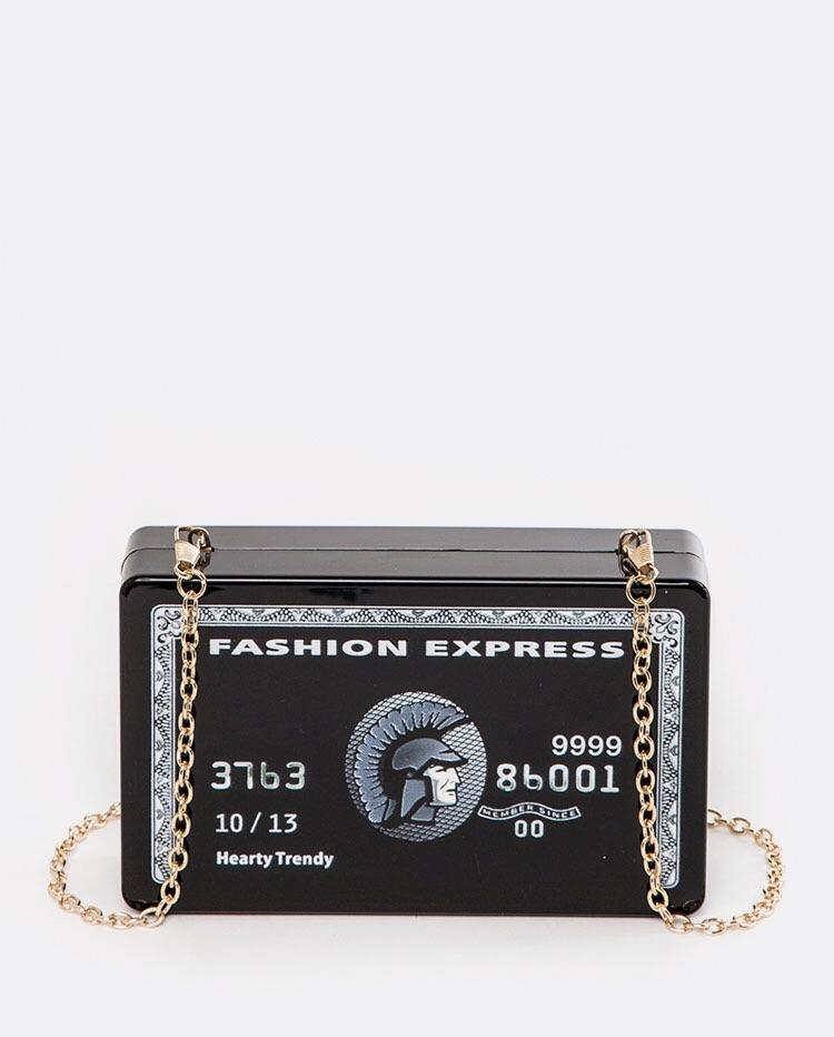 The Black Card Clutch - SLAYVE to style (1460782235671)