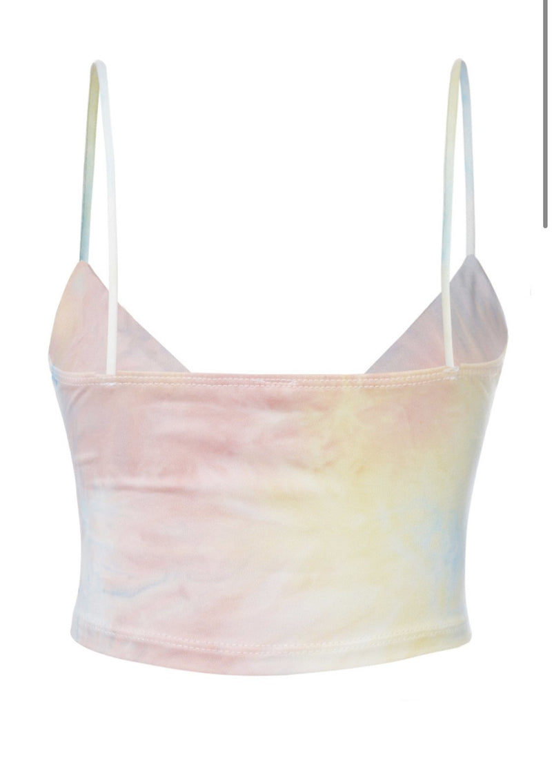 Tie Dye Crop Top - SLAYVE to style (4628452048943)