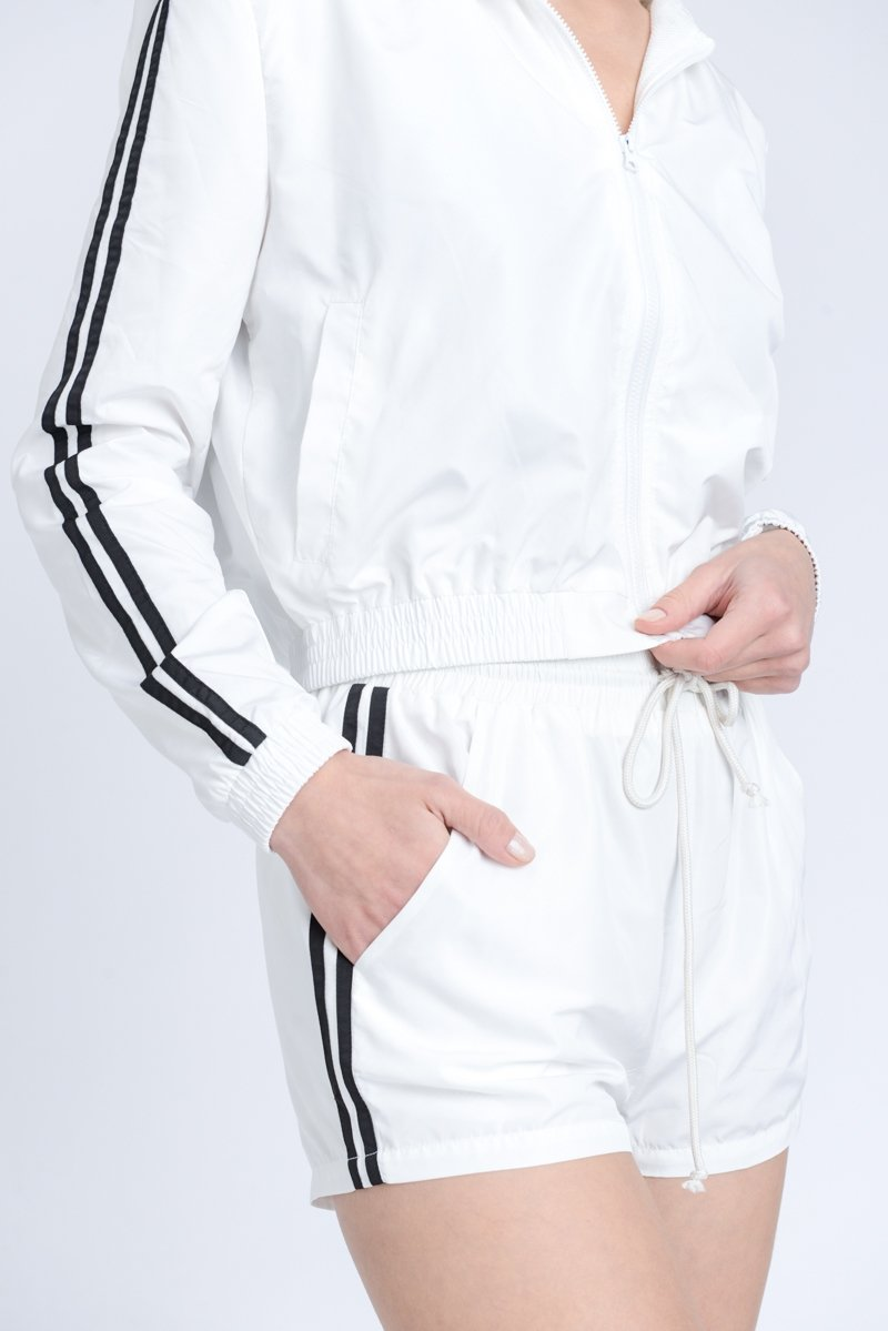 White Windbreaker Jacket - SLAYVE to style (4595553075247)