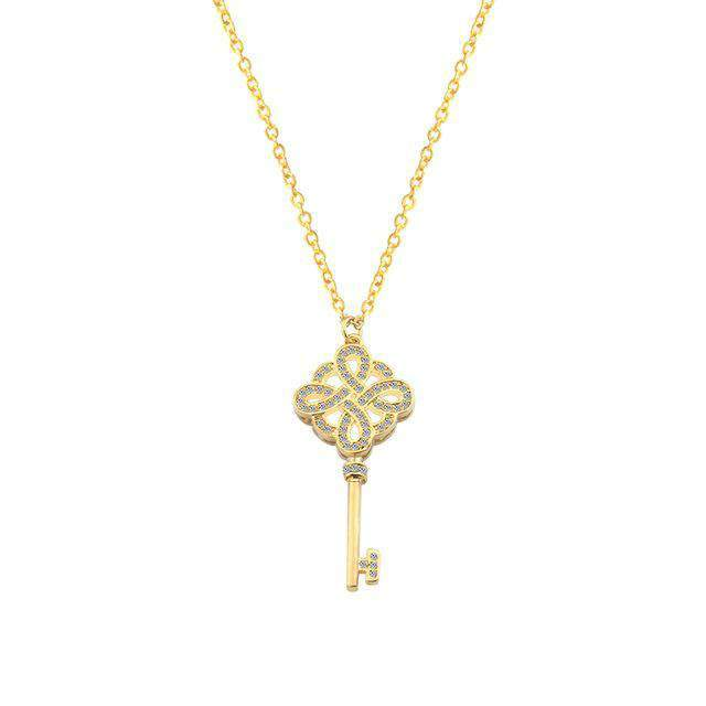 The Bejewelled Key Necklace