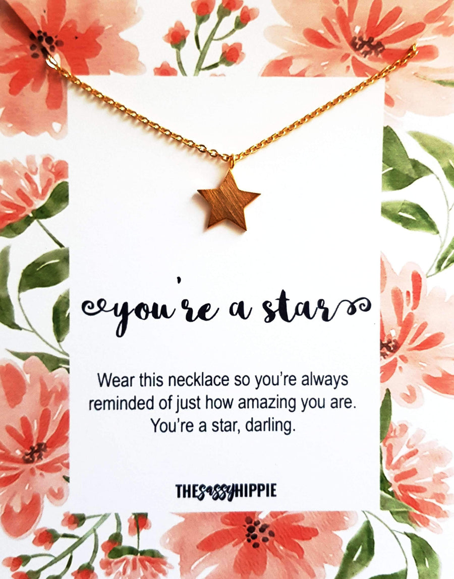 You're a star Necklace with Card - TSH Jewelry