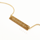 Real Heartbeat Custom Bar Necklace - TSH Jewelry