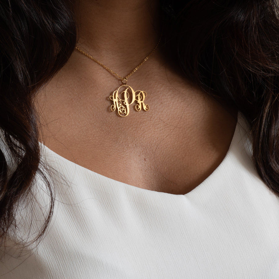Arianna Monogram Necklace