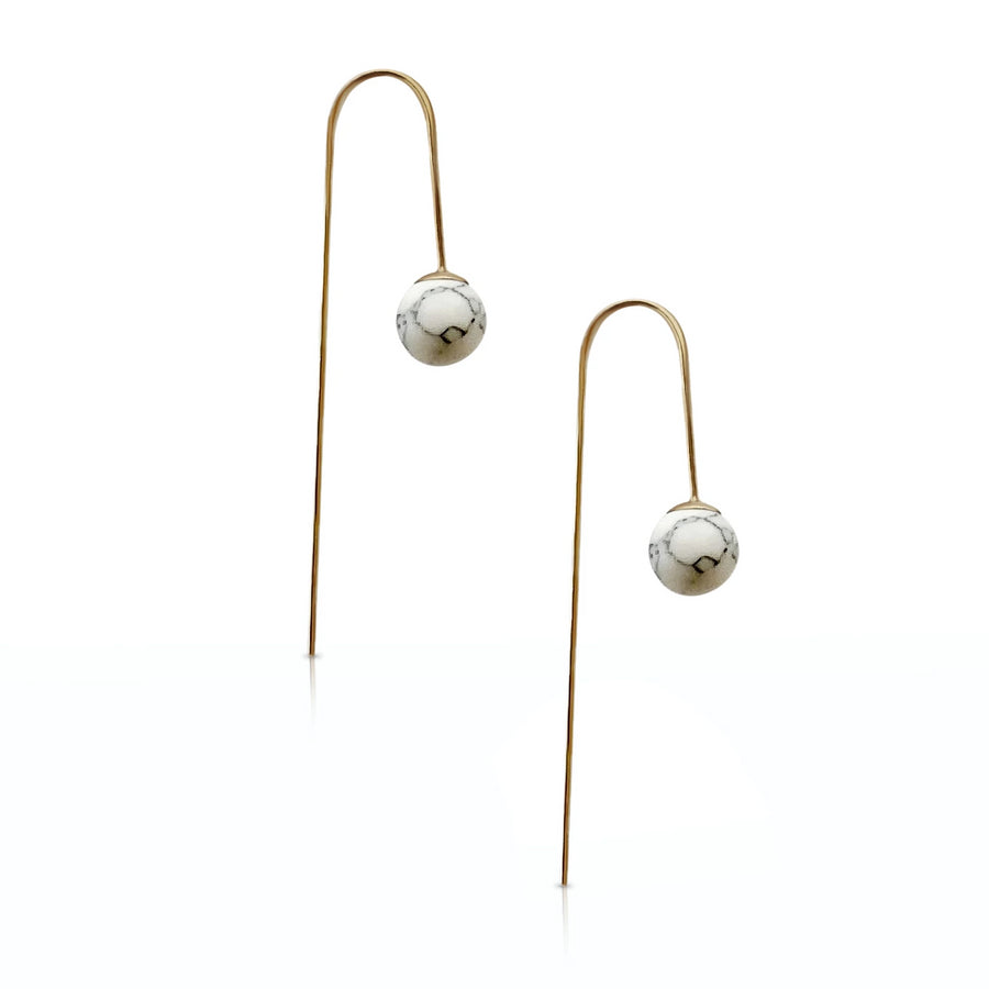 Avery - Howlite earrings