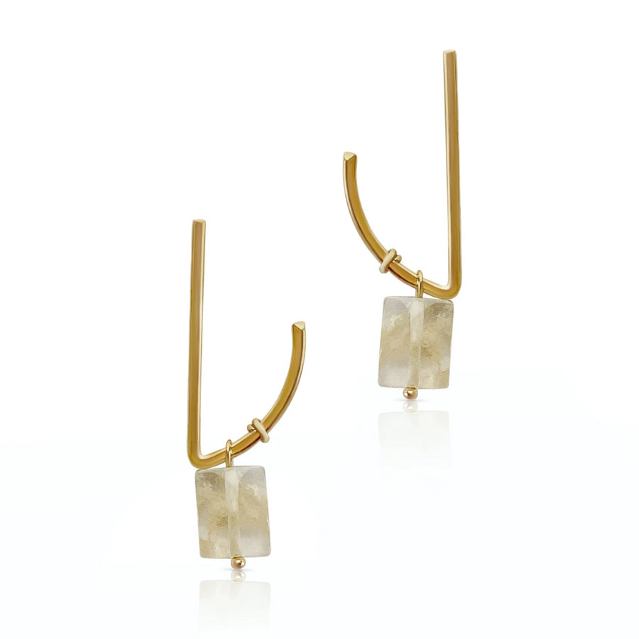 Evelyn - Citrine earrings