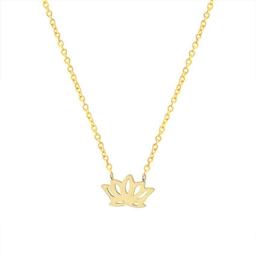 The Golden Lotus Necklace - TSH Jewelry