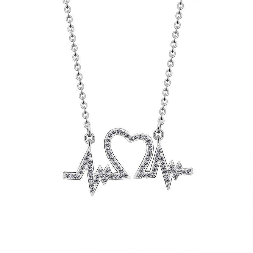 The Lover's Heartbeat Necklace - TSH Jewelry