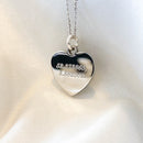 Coordinates Heart Necklace
