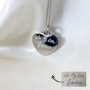 Real Handwriting Heart Necklace