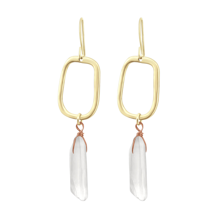 Lucia - Clear Quartz Earrings