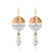Thalia - Clear Quartz & Copper Earrings