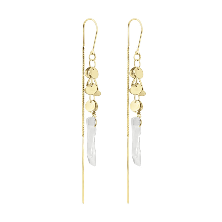Valeria - Clear Quartz Drop Earrings