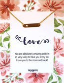 Love Bar Necklace with CardTSH Jewelry
