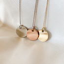 Real Handwriting Disc Necklace