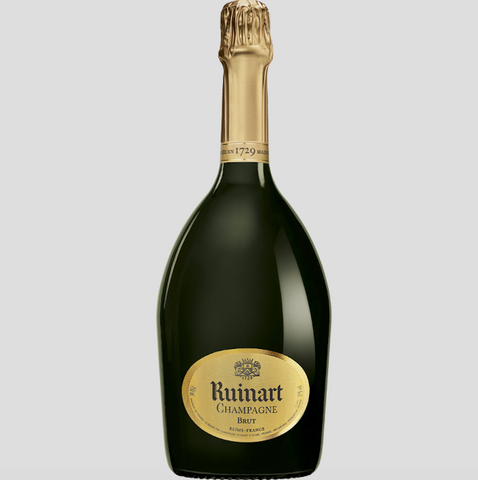Bottle of Ruinart champagne