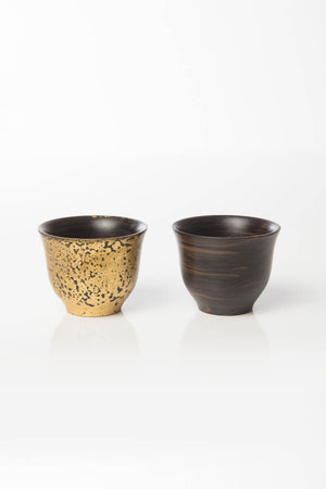 Lebanese Coffee Cup Set (Gold Meets Ebony)