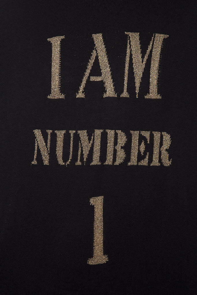 "Knitted Sweater ""I Am Number One"""