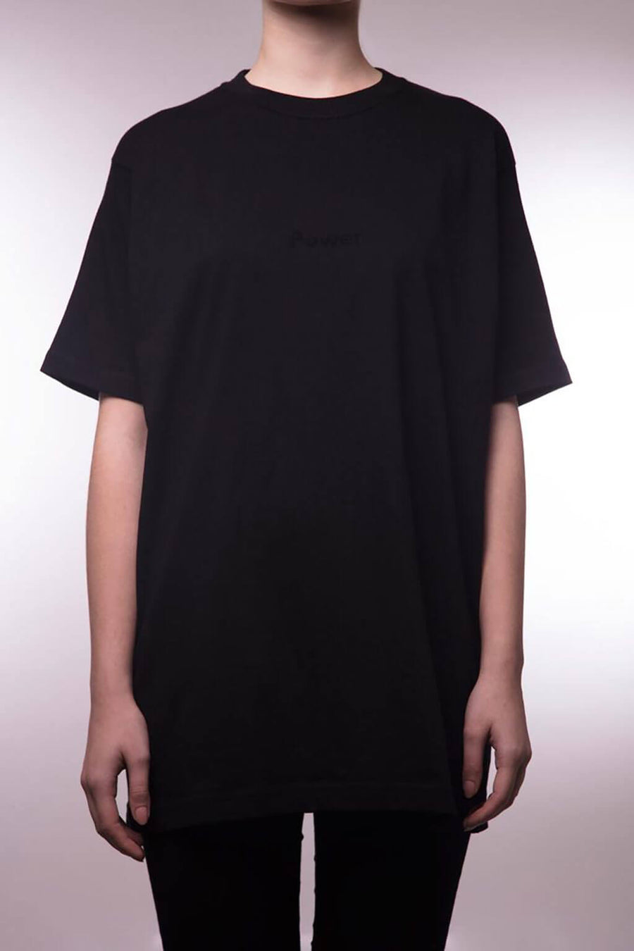 "Power T-Shirt ""Black on Black"""
