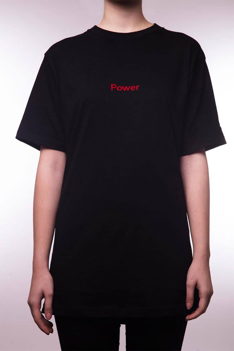 "Power T-Shirt ""Red on Black"""