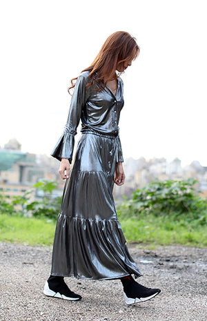 Maxi Metallic Dress