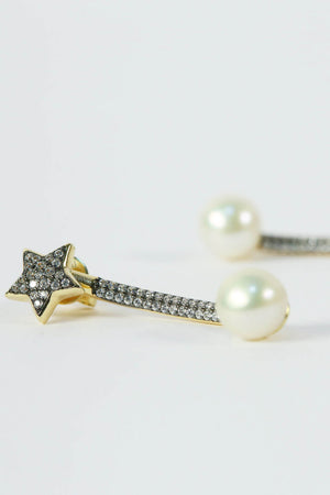 Star-Stud/pearl earrings