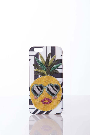 iPhone 7 Pineapple on BLACK & WHITE cover