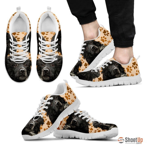 Portuguese Water Dog (White/Black) Running Shoes For Men-Free Shipping