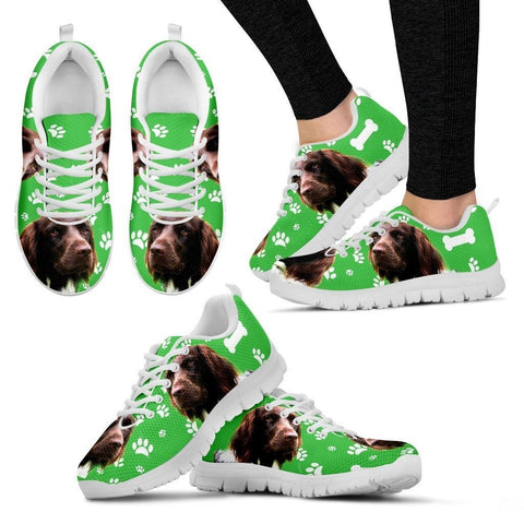 Customized Dog Print Running Shoes For Women-Free Shipping-Designed By Birte Wold Myhre