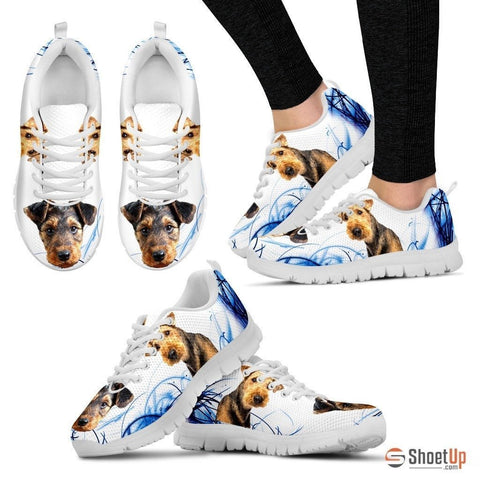 Airedale Terrier Print Sneakers For Women(White)- Free Shipping