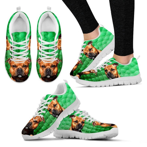 Customized Dog Print Running Shoes For Women-Express Shipping-Designed By Camilla Sanner