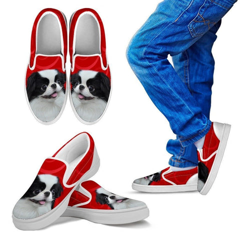 Japanese Chin Print Slip Ons For Kids-Express Shipping