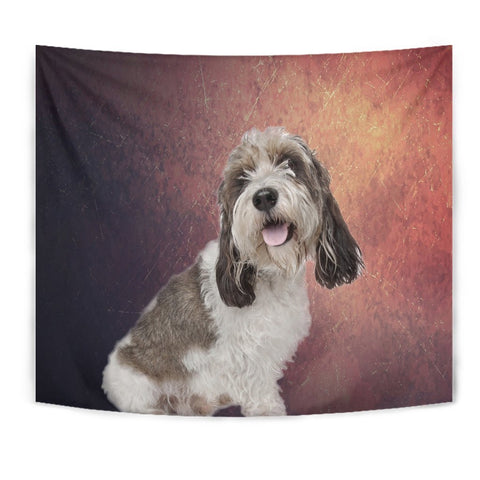Cute Petit Basset Griffon Vendeen Print Tapestry-Free Shipping