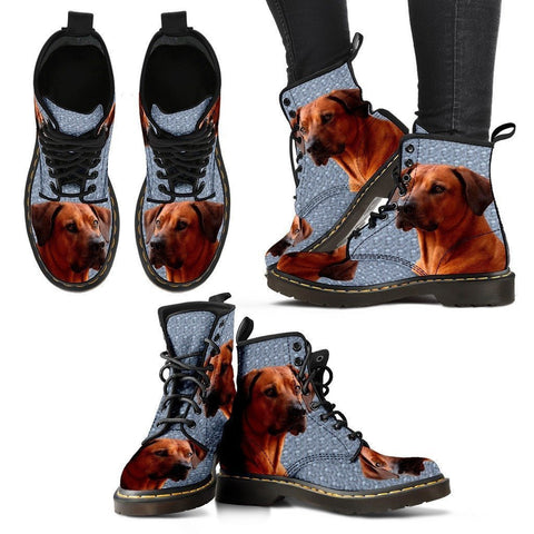 Rhodesian Ridgeback Print Boots For Women-Express Shipping