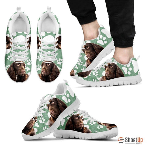 Field Spaniel Print (Black/White) Running Shoes For Men-Free Shipping Limited Edition