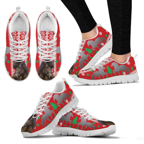 Icelandic horse Print Christmas Running Shoes For Women-Free Shipping