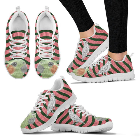 Cockatiel Parrot2 Print Christmas Running Shoes For Women-Free Shipping