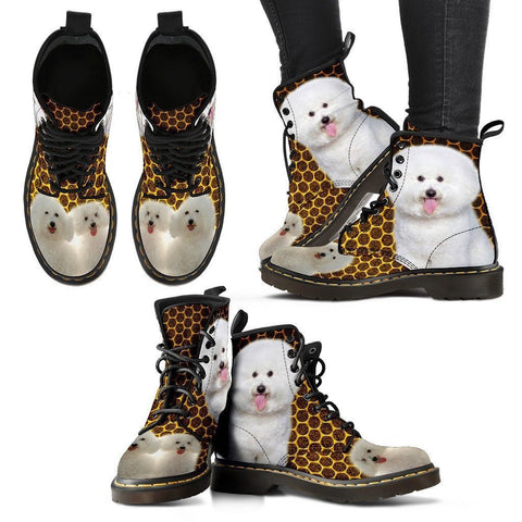 Bichon Frise Print Boots For Women- Express Shipping