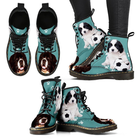 Landseer Dog Print Boots For Women- Express Shipping